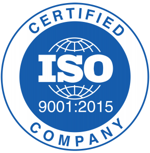 ISO 9001 certified seal, 2015 294x300